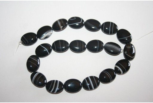 Brazil Sardonyx Oval Beads 13x18mm - 2pcs