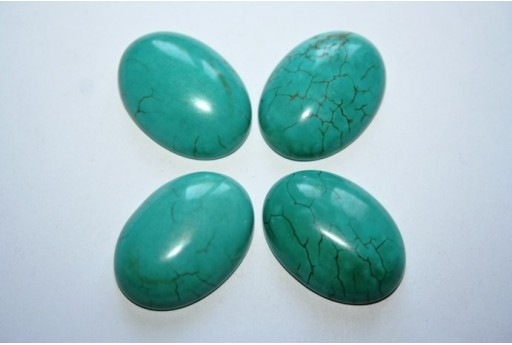 Cabochon Synthetic Turquoise Oval 25x18mm - 1pz