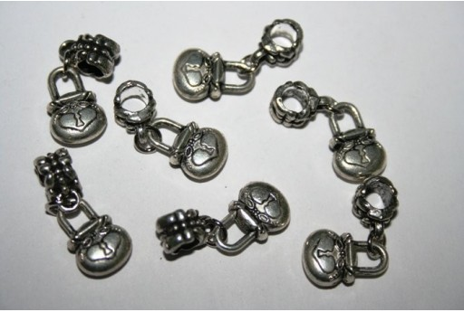 Large Hole Beads Padlock 14x10mm - 2pz