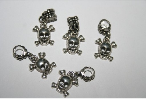 Large Hole Beads Skull 14x13mm - 2pz
