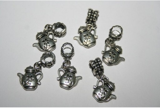 Large Hole Beads Teapot 13x13mm - 2pz