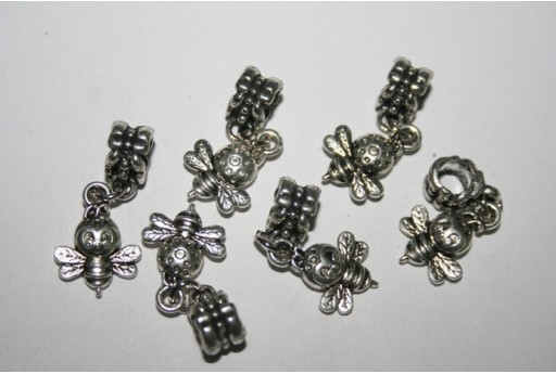 Large Hole Beads Bee 16x12mm - 2pz