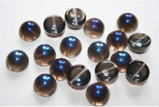 Perline Dome Beads Crystal Azuro 12x7mm - 10pz