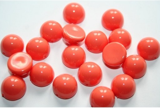 Dome Beads Fiesta Peach Coral 12x7mm - 10pz
