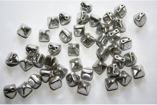 Pyramid Beads 6x6mm, 20Pz., Crystal Labrador Full Col.27000