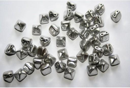 Pyramid Beads 6x6mm, 20Pz., Crystal Labrador Full Col.27000