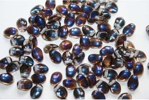 Tulip Beads Crystal Azuro 6x8mm - 30pz