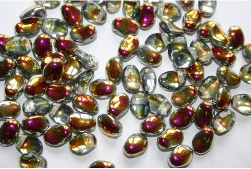 30 Perline Tulip Petals 6x8mm Crystal Col.00030