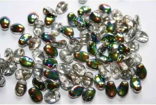 Perline Tulip Petals 6x8mm, 30Pz., Crystal Vitrail Col.28101
