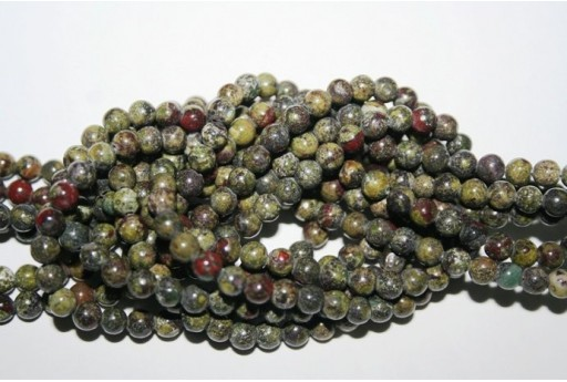 64 wire 6 mm Ball Bloodstone AFBL6 Stones