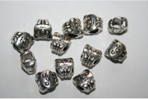 Large Hole Beads Dog 10X9,5mm - 5pz