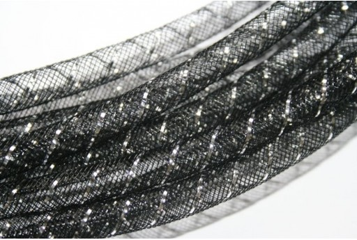 Nylon Mesh Tube 8mm Black- 2m