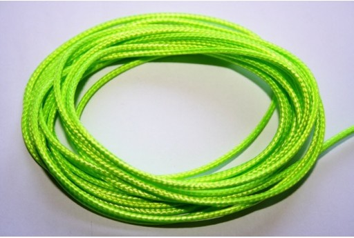 Neon Green Waxed Polyester Cord 1,5mm - 12m MIN132AB
