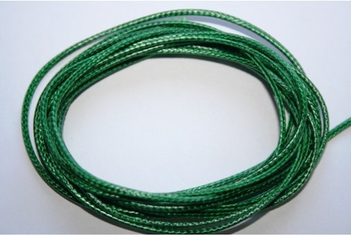 Green Waxed Polyester Cord 1,5mm - 12m MIN132AC