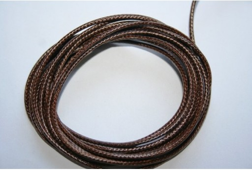 Dark Brown Waxed Polyester Cord 1,5mm - 12m MIN132AD