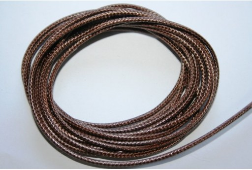Brown Waxed Polyester Cord 1,5mm - 12m MIN132AE