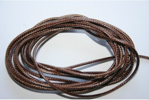 Light Brown Waxed Polyester Cord 1,5mm - 12m MIN132AF