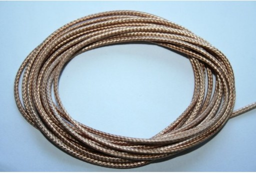 Beige Waxed Polyester Cord 1,5mm - 12m MIN132AG