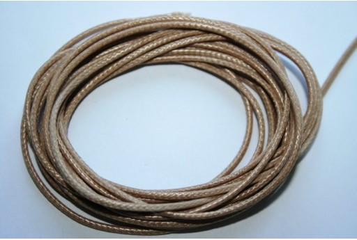 Light Beige Waxed Polyester Cord 1,5mm - 12m MIN132AH