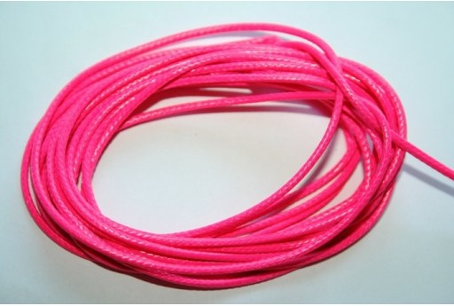 Neon Pink Waxed Polyester Cord 1,5mm - 12m MIN132AM