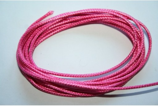 Pink Waxed Polyester Cord 1,5mm - 12m MIN132AN