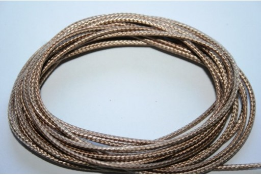 Light Brown Waxed Polyester Cord 1,5mm - 12m MIN132AQ