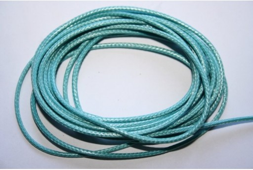 Light Blue Waxed Polyester Cord 1,5mm - 12m MIN132AR