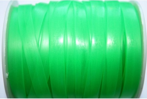 Flat Rubber Cord Green 8x1mm - 1m