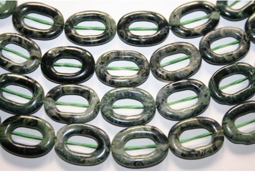 Pietra Jasper Kambaba Ovale Donut 25x18mm JA61A