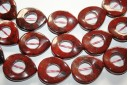 Pietra Jasper Goccia Twist Donut 30x25mm JA62A