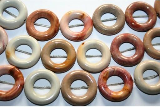 Filo 16 Pietre Agata Cerchio Donut 25mm