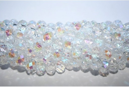 Chinese Crystal Beads Faceted Rondelle Crystal AB 7x10mm - 70pz