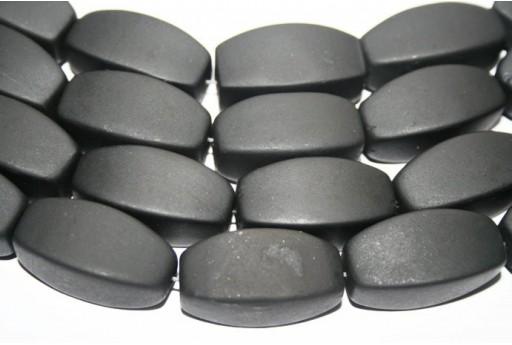 Filo 13 Pietre Black Stone Oliva 4 Facce 30x16mm BLST4