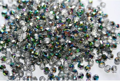 Fire Polished Beads Crystal/Vitral 4mm - 60pz