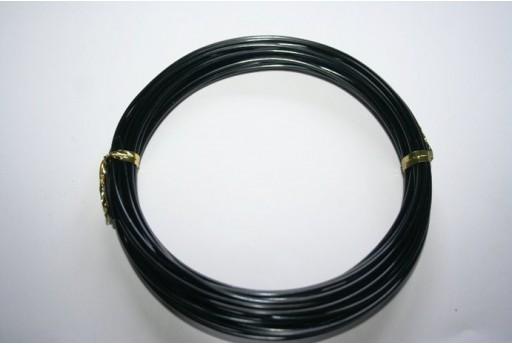 Filo Alluminio Colore Nero 1,5mm - 6mt