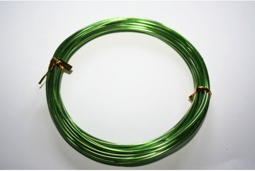 Aluminium Wire 1,5mm Light Green - 6m