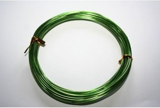 Filo Alluminio Colore Verde Chiaro 1,5mm - 6mt