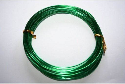 Aluminium Wire 1,5mm Green - 6m