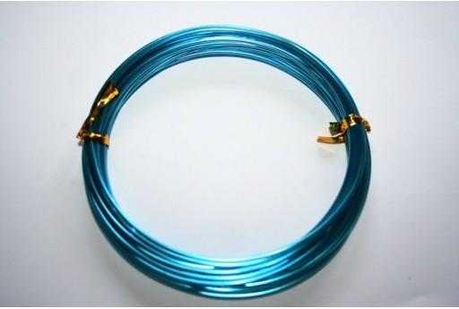 Filo Alluminio Colore Aquamarine 1,5mm - 6mt