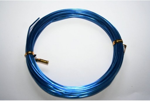 Aluminium Wire 1,5mm Blue - 6m