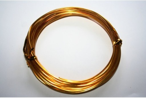 Filo Alluminio Colore Giallo Oro 1,5mm - 6mt