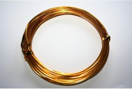 Aluminium Wire 1,5mm Golden Yellow - 6m