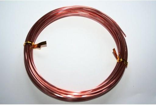 Filo Alluminio Colore Oro Rosa 1,5mm - 6mt