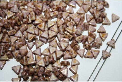 Khéops® Par Puca® Beads 6mm, Opaque Mix Rose Gold Ceramic 10gr