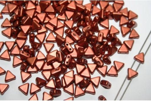 Khéops® Par Puca® Beads 6mm, Bronze Red Mat 10gr
