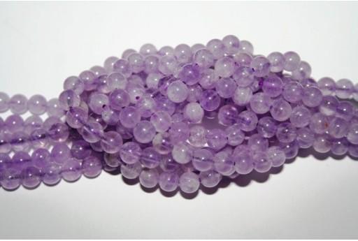 Lavender Amethyst Beads Sphere 6mm - 4pz