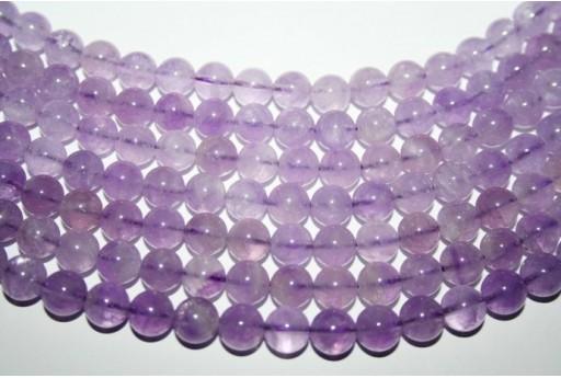 Lavender Amethyst Beads Sphere 8mm - 3pz