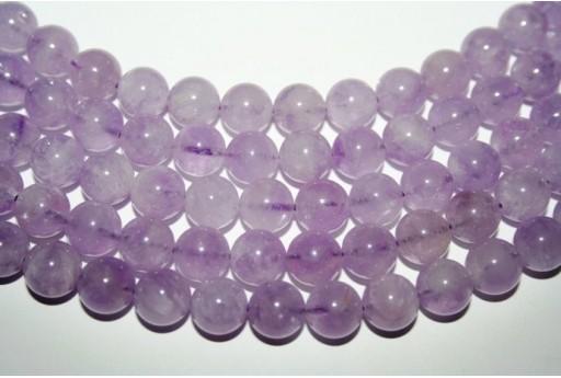 Lavender Amethyst Beads Sphere 10mm - 38pz