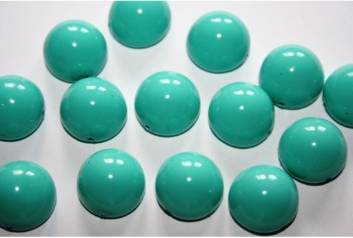 Perline Dome Beads 14X8mm, 10pz., Turquoise Blue Col.48655