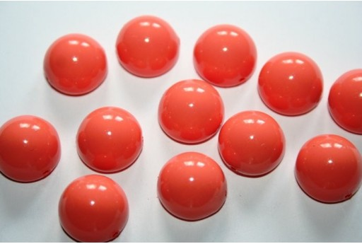 Dome Beads Peach Coral 14x8mm - 10pz